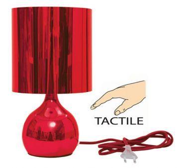 lampe de chevet tactile Bubble rouge