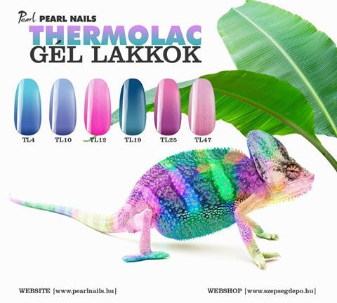 Változtasd te is körmeid színét, akár egy kaméleon!  Change the colors of your nails like a chameleon! #pearlac #pearlnails #géllakk #gellac #nails #thermolac #naildesign #instanails/thermolac.html