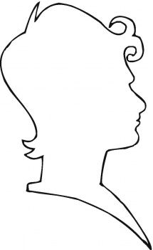 head profile outline printable - Google Search