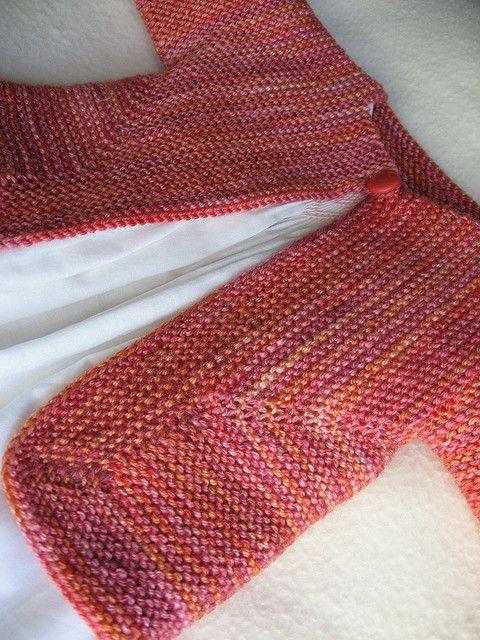 Baby Surprise Jacket, pattern by Elizabeth Zimmerman - gorgeous yarn