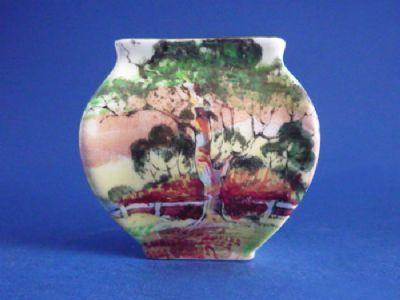 Royal Doulton Australian 'Gum Trees' Series 'A' Miniature Vase D5506 c1935