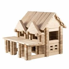 IGROTECO House with Balcony Building Set Wooden Toys UK Seller DIY Assembly