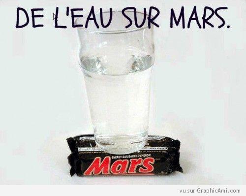 Une nouvelle exceptionnelle nous est parvenue, nous avons décelé de l'eau sur Mars !