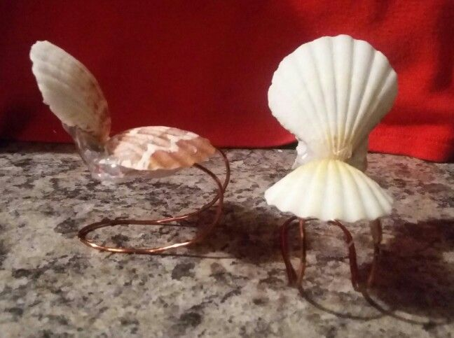 Sea shell chairs I made for the Fairy House