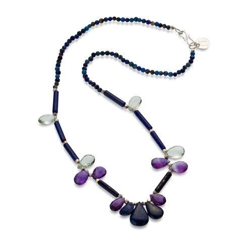 The Reef Necklace in Blues & Purples