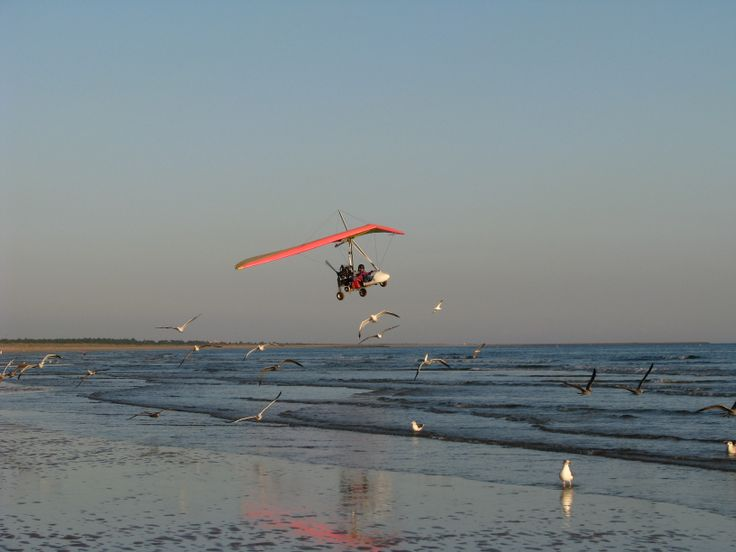 Delta motorisé sur la plage de Monte Gordo