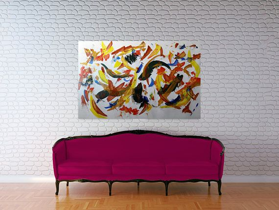 Acrylic abstract painting-wallart-original art artforliving