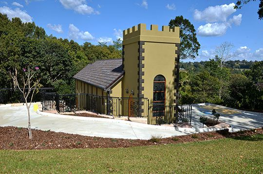 Something a little bit different at Chapel of Angels, in Montville, Queensland http://chapelofangels.com.au/