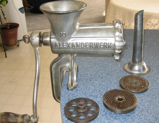 Vintage meat Grinders - How to buy one (and a few tips on using one too): Vintage meat grinder