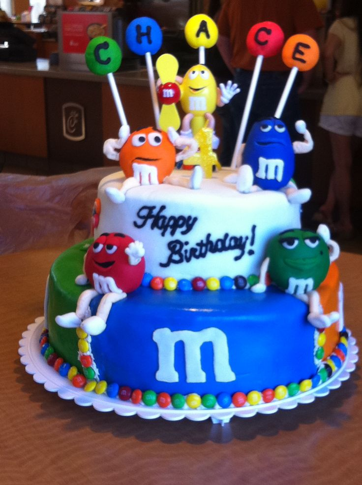 MM Birthday cake - MM Birthday cake made for a 4 year old ...