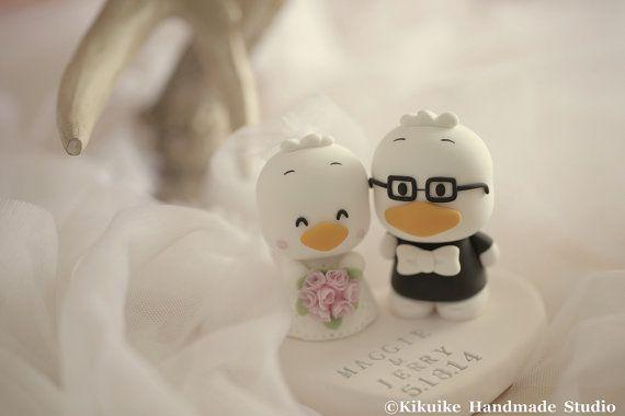 Custom Order Deposit for the lovely Wedding Cake Topper by kikuike