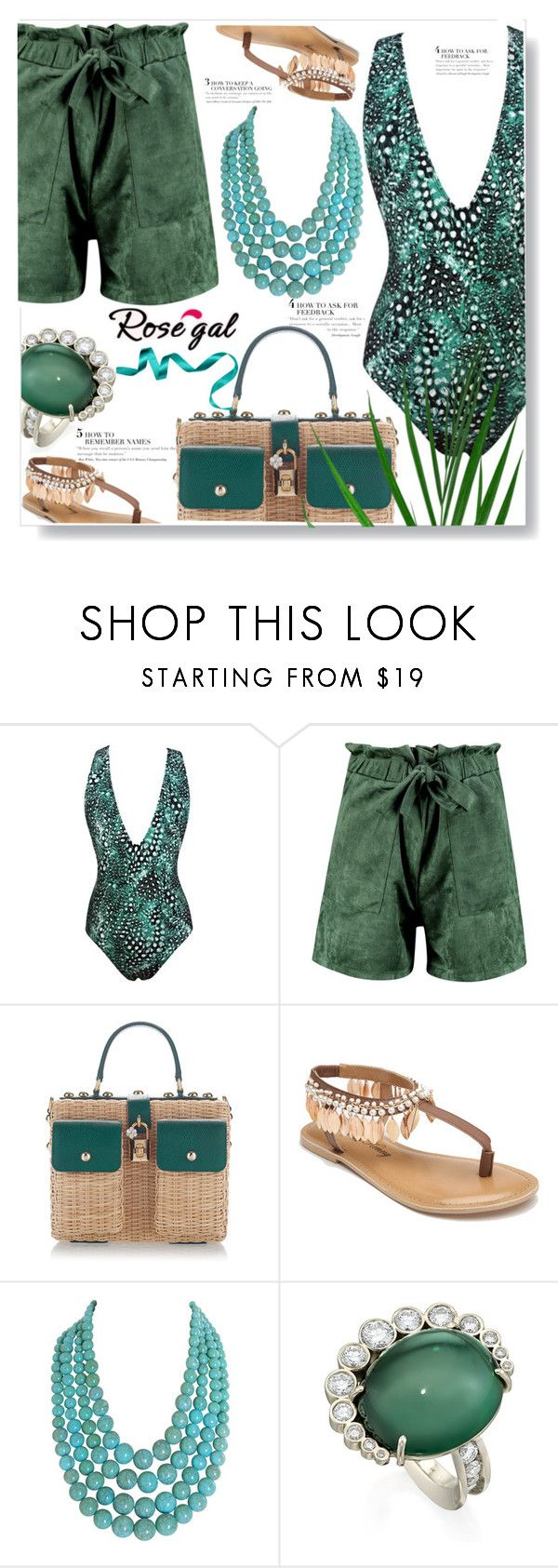 """""""Swimmwear"""" by ucetmal-1 ❤ liked on Polyvore featuring Boohoo, Dolce&Gabbana, Penny Loves Kenny and Humble Chic"""