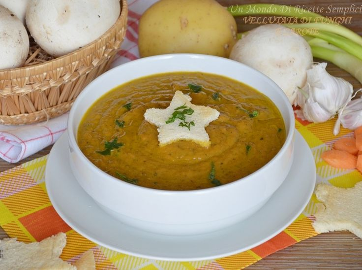 La vellutata di funghi e carote è leggera e saporita, ha un gusto delicato ed è perfetta da preparare durante le giornate invernali.