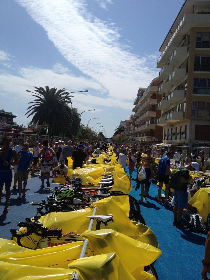 Bike transition - Ironman 70.3 Pescara, Italy