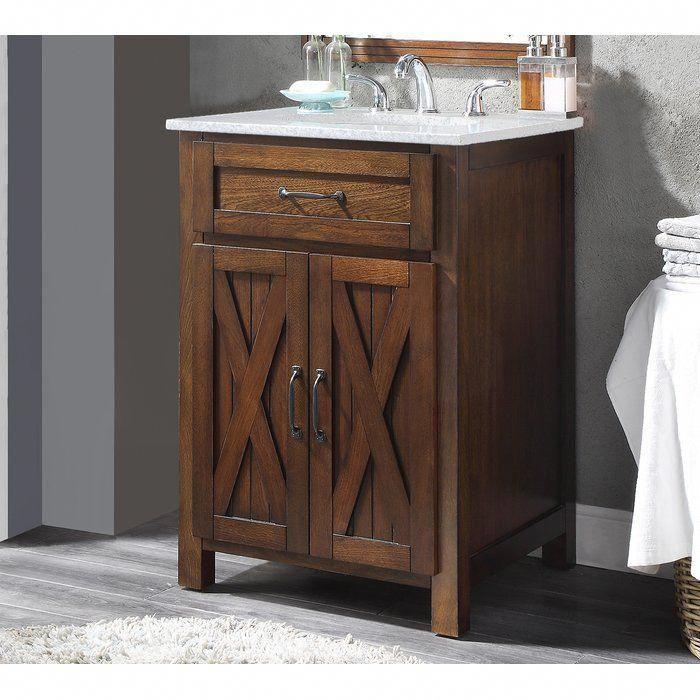 Maud 24 Single Bathroom Vanity Set Rustic Bathroom Vanities