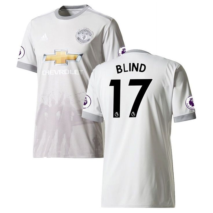 Daley Blind Manchester United adidas Youth 2017/18 Third Replica Jersey - Gray
