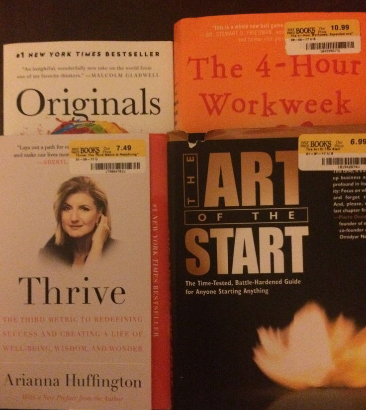 Good finds at Half-Price Books: Originals, Thrive, The Art of the Start, and the 4-Hour Workweek