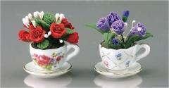 flowers: Miniatures Flowers, Teacups Flowers, Miniatures Collection, Flowers Pots, Flower Pots, Pots Sets, Mary Dollhouses, Hot Pots, Dollhouses Miniatures