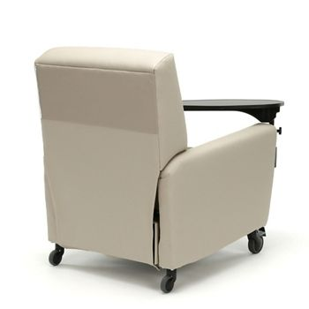 Nice Oliver Push Back Vinyl Recliner With Casters And Tablet Arm