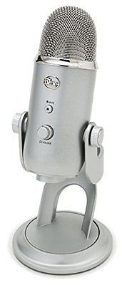 Blue Yeti USB Microphone For Vocals Musical Studio Quality Recording Mic- Silver