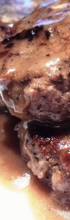 Hamburger Steaks with Brown Gravy . . .what man wouldn't want this for dinner....haha!!!