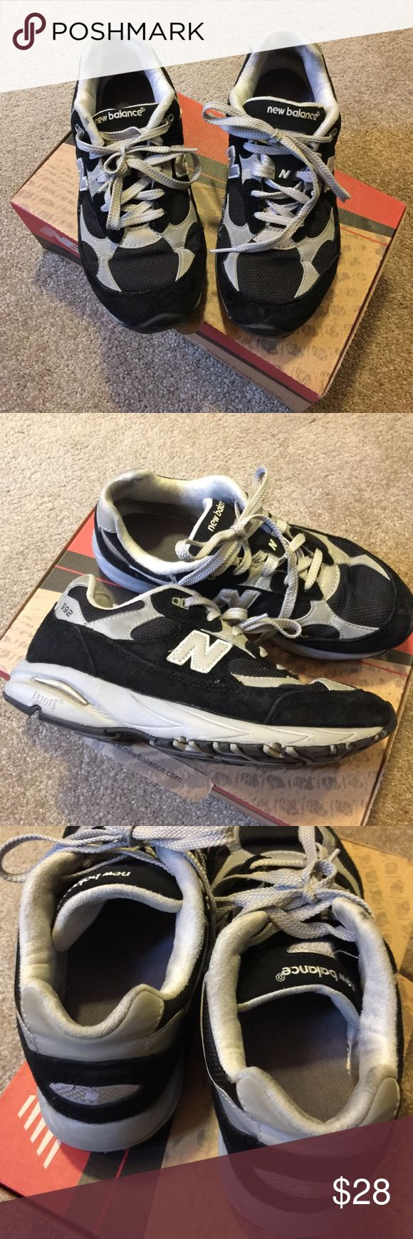 992 New balance Rare 992 new balance black & gray in ok condition.. 5 1/2 Y AND 7 woman's .. New Balance Shoes Sneakers