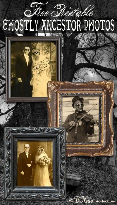 Free Printable Ghostly Ancestor Halloween Photos: Perfect for a Spooky Decoration | bnute productions | Bloglovin'