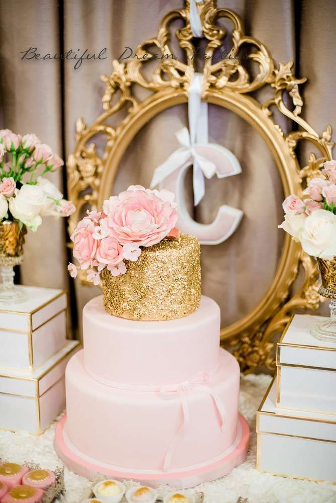 Elegant Gold and Pink Birthday | CatchMyParty.com