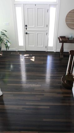 ebonized wood floors: steel and vinegar on red oak