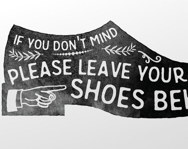 Please remove your shoes sign – zoomed                              …