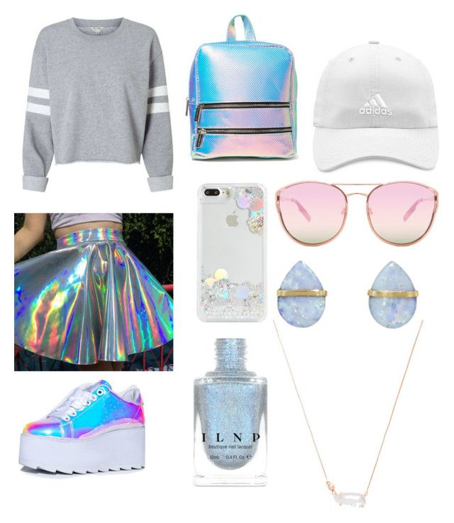 """Holo"" by peach-1tea ❤ liked on Polyvore featuring Skinnydip, Y.R.U., Quay, adidas, Melissa Joy Manning and Kendra Scott"