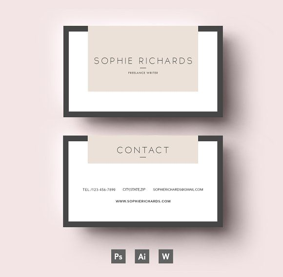 288 best Business Card Designs images on Pinterest Business card - blank id card template