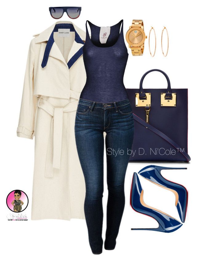 Untitled #2962 by stylebydnicole ❤ liked on Polyvore featuring Sophie Hulme, Sandy Liang, Friendly Hunting, THVM, Christian Louboutin, Rosa de la Cruz, Movado and CÉLINE