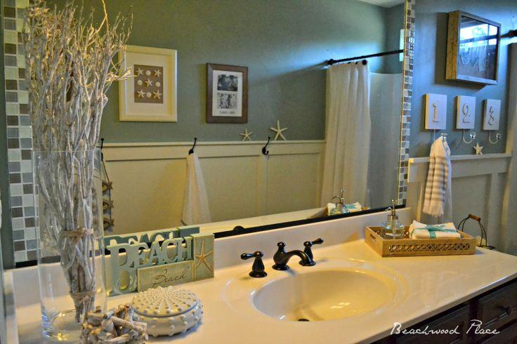 Beachwood Place Coastal Bathroom Makeover Great Idea To Tile Around Mirror Mirrors