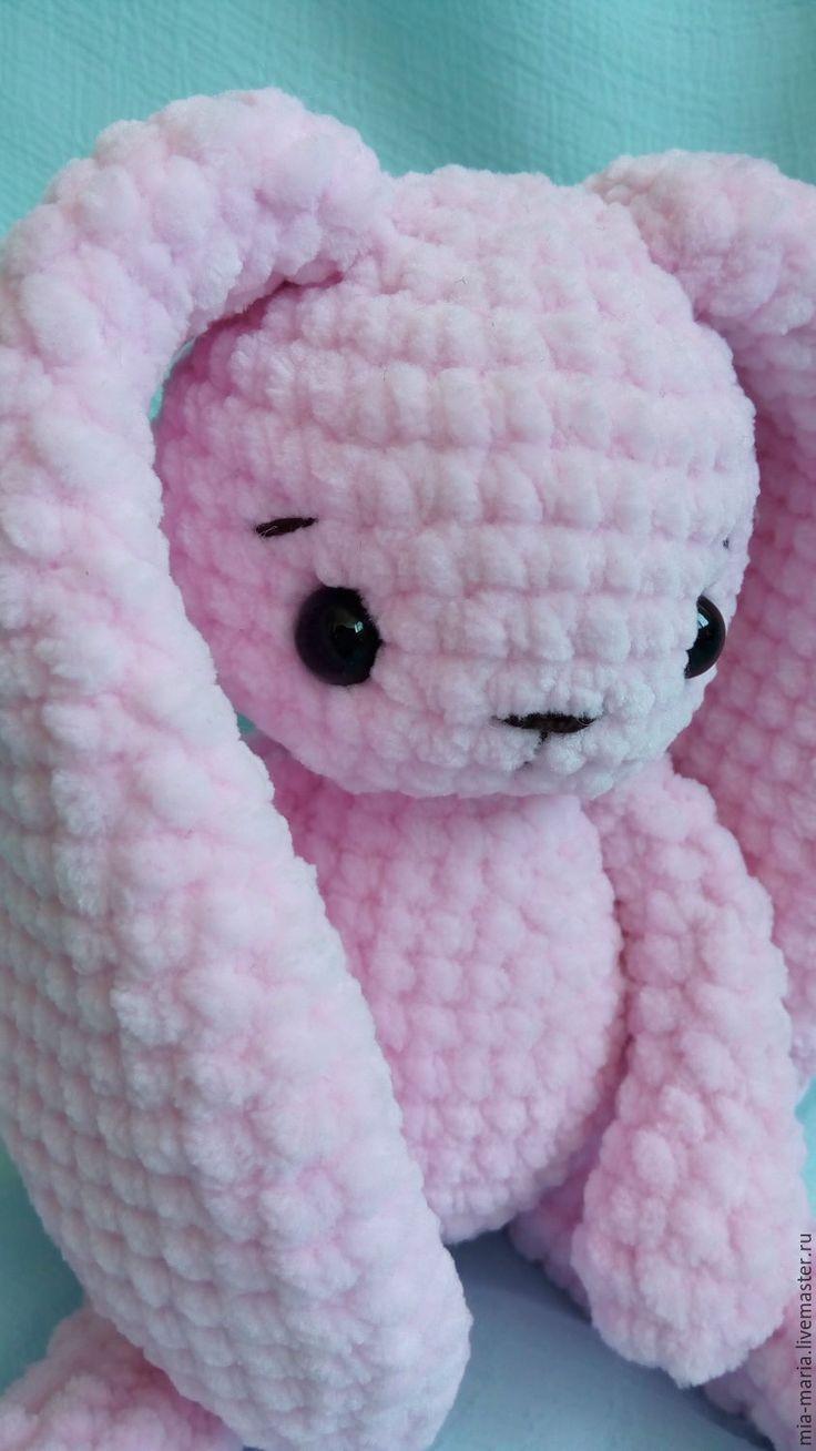 Купить Зефирная зайка Роза - бледно-розовый, заяц, заяц игрушка, зефирный заяц