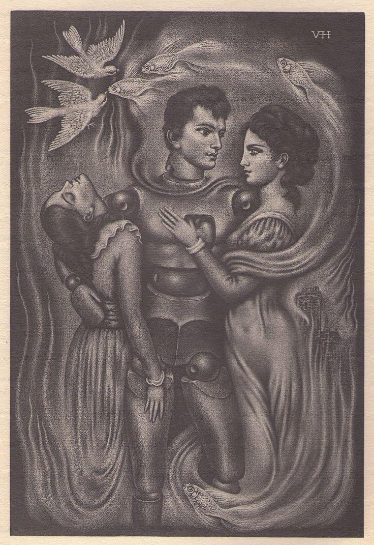 """dekehlmark:    Valentine Hugo (1887-1958) , Illustration pour """"Les Contes Bizarres"""" de Archim d'Arnim."""
