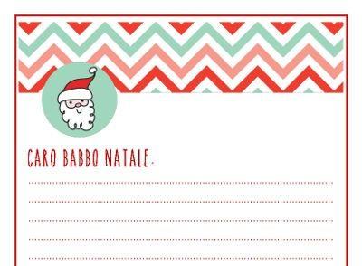 La lettera per Babbo Natale da stampare gratuitamente, con etichetta e francobollo per inviare i desideri dei bambini al Polo Nord, casa di Babbo Natale.