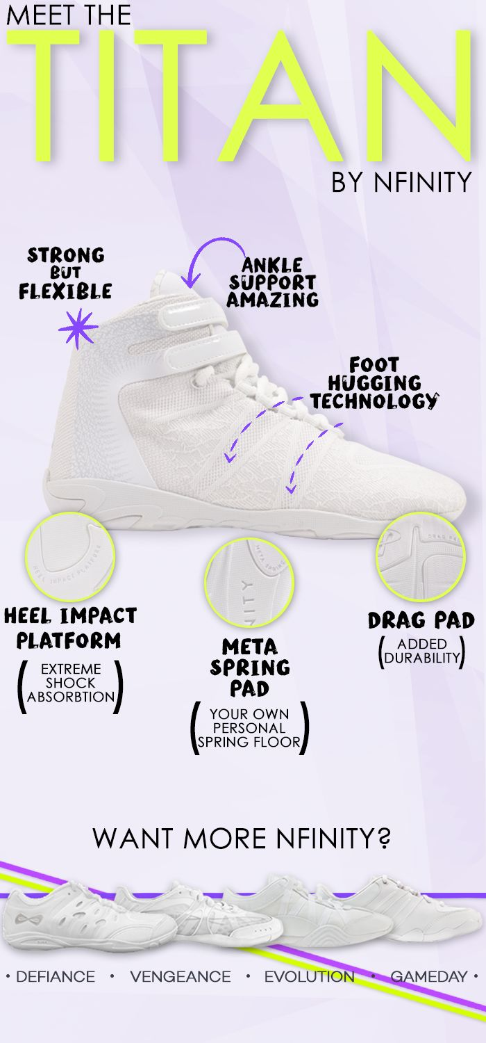 The Nfinity Titan Cheerleading shoe! So obsessed with this fierce shoe. It's everything you need to nail your cheer competition.
