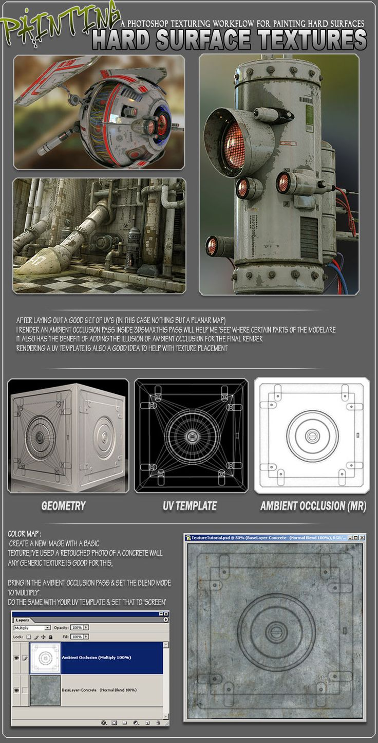 Tutorial: Hard Surface Texture Painting - Game Artist Forums