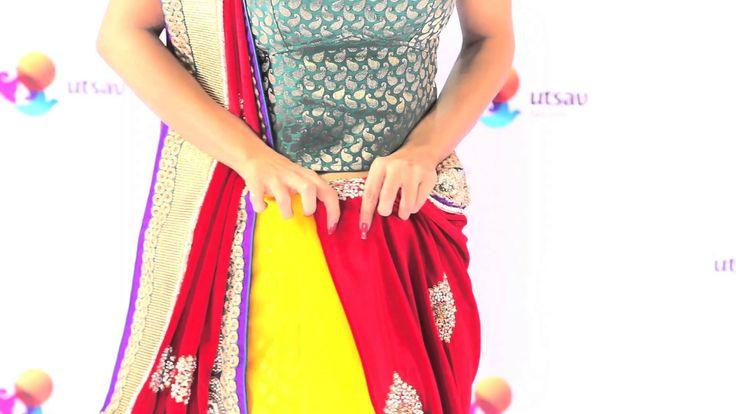 How to wear a Rajrani Style Saree
