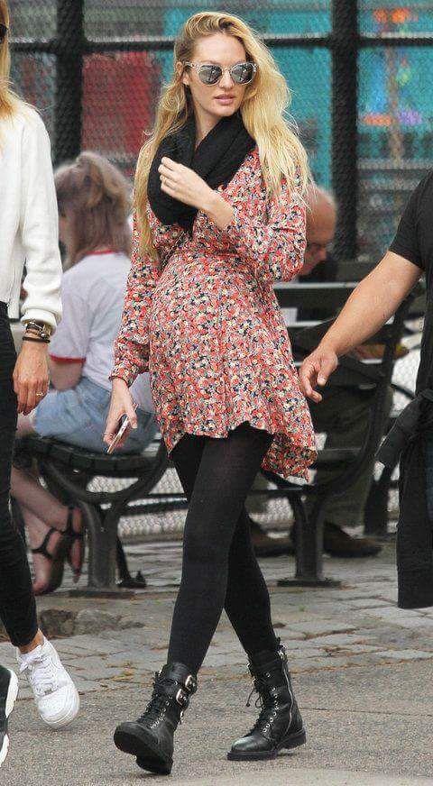 A mais nova mamãe modelo, Angel da Victoria's Secret, mais uma vez arrasando no look!! #Candice #Swanepoel #Grávida #Stylish #People