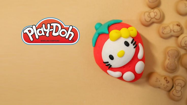 DIY How To Make Play Doh 'Hello Kitty' Strawberry squishy : 플레이도우 헬로키티 딸...