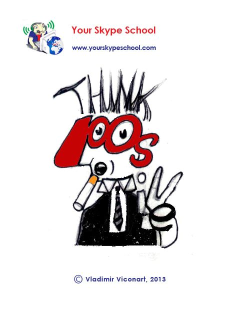 #typography, #playful #words, #wise #saying, #quote, #think, #positive, your skype school #linguistic project, word play, #cartoon, by Vladimir Viconart
