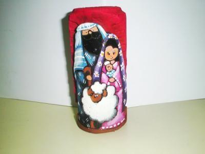 Velas navideñas Velones decorados arcilla,acrilicos,barro modelado,plantillas