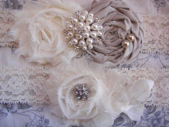 Wedding Garter Shabby Chic By SofiaUniqueBoutique 2700