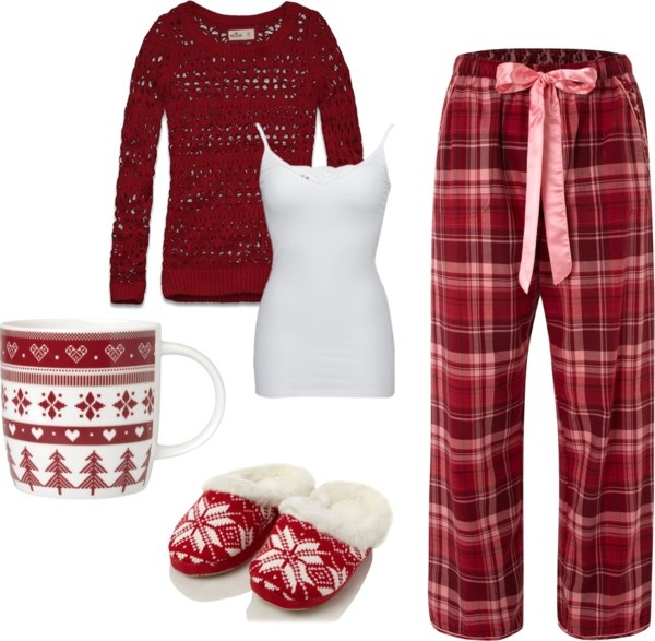 """Comfy Christmas Morning"" by tayrenee05 on Polyvore"
