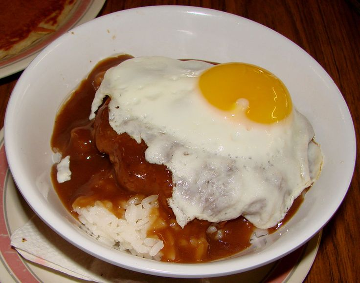 Loco moco- Local Hawaiian Food, Yums...Rice, hamburge, gravy and any way you like it Eggs