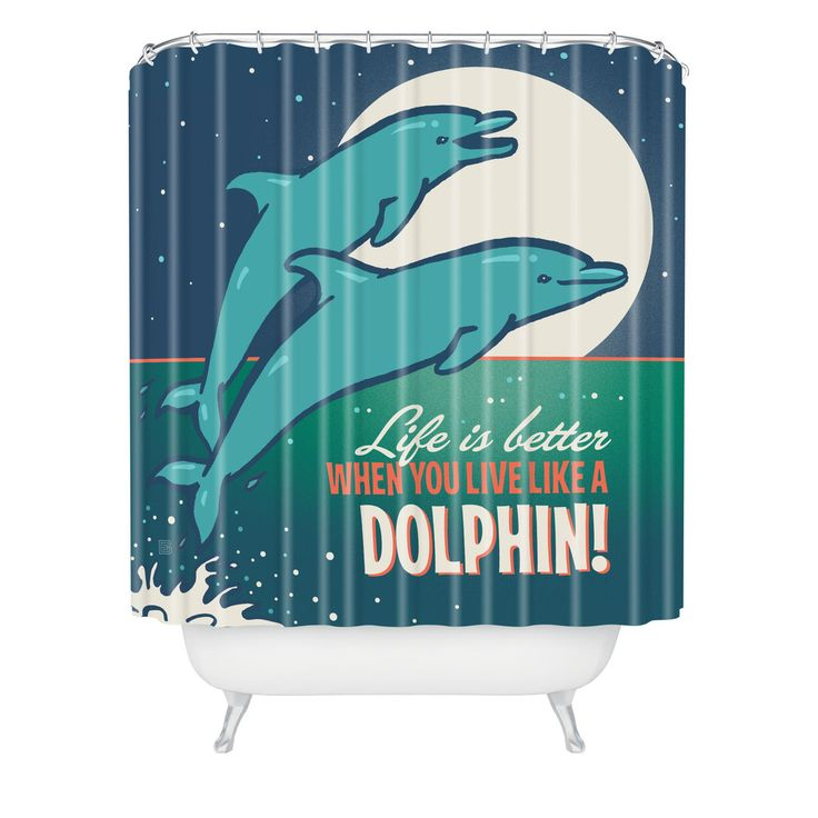 37 best dolphin shower curtain images on pinterest for Household design 135 curtain road