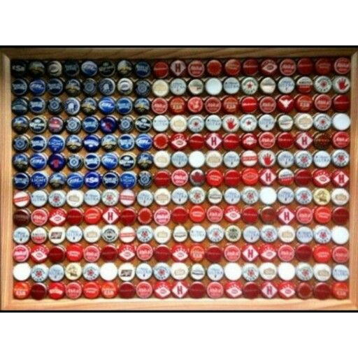 American flag made out of bottle caps recycling for What can i make with beer bottle caps