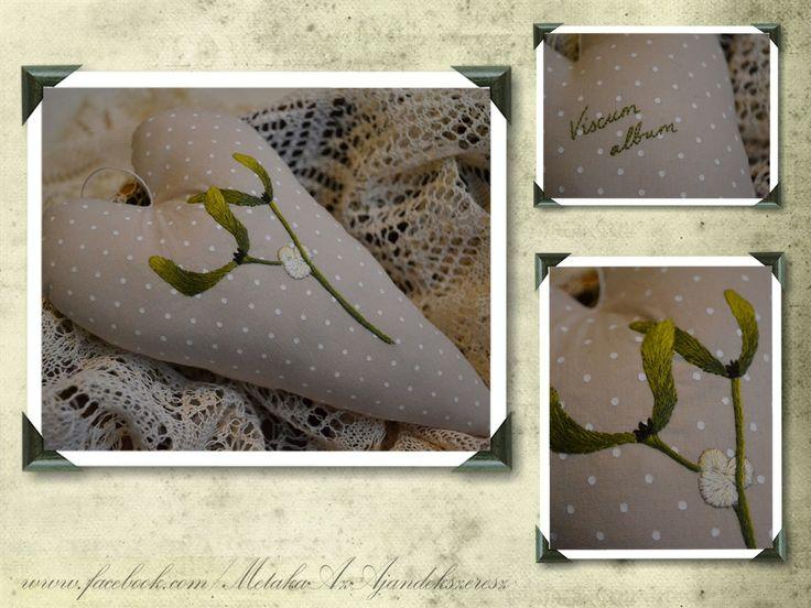 Needlepainted mistletoe